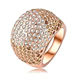 Daesar Rose Gold Plated Rings Womens Ball Cubic Zirconia Rings Promise Rings Size 6.5