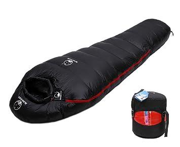 Amazon.com: Momia saco de dormir de plumón de ganso acampar ...