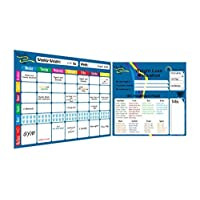 Weekly Meal Planner and Tracker Dry Erase Board – Refrigerator Calendar Food Diary...