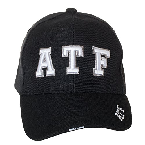 ATF (Alcohol Tobacco Firearms) Deluxe Black Embroidered Law Enforcement/Security Novelty Baseball Caps (ATF)