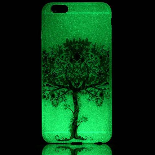 Coque Etui iPhone 6 / 6S Plus , Leiai Arbre Vert Silicone Gel Case Avant et Arrière Intégral Full Protection Cover Transparent TPU Housse Anti-rayures pour Apple iPhone 6 / 6S Plus