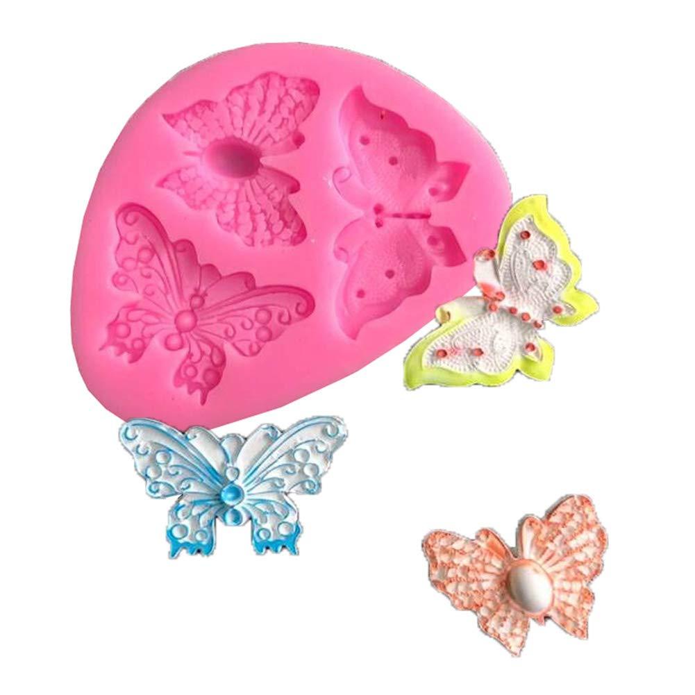 clifcragrocl Stampi per Dolci Forma di Farfalla Stampo in Silicone Fondente Torta al Cioccolato Decorazione Fai da Te Bakeware Rosa