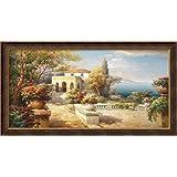 Framed Art Print 'Tuscan Pathway' by Roberto Lombardi