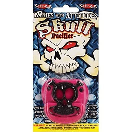 Billy Bob Pacifier - Rosa Pirate Skull Baby by mayborn English ...