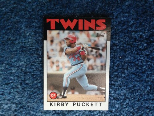 1986 Topps Baseball Kirby Puckett Card # 329 (Outfield) Very Good Shape! Minnesota Twins Hall of Famer! ()