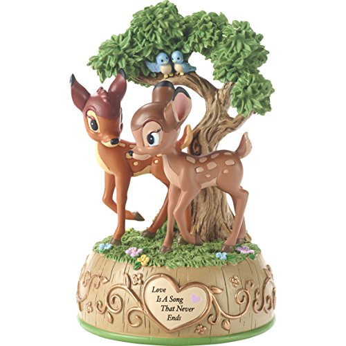 (Precious Moments 179710 Love is A Song That Never Ends Disney Showcase Bambi & Faline Resin Music Box, Multicolor)