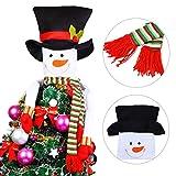 Justdolife Christmas Tree Topper Snowman Hugger Christmas Tree Ornament