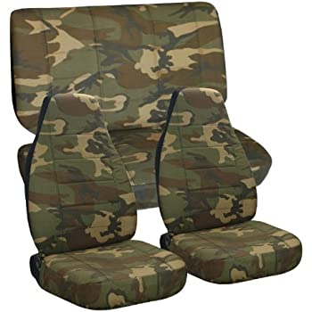 Amazon Com Complete Set Of Quot Army Camo Quot Seat Covers For A
