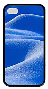 iPhone 4 4s Cases & Covers - Blue Desert Custom TPU Soft Case Cover Protector for iPhone 4 4s - Black