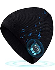 Bluetooth Beanie Gifts for Teen Boys Girls Wireless 5.0 Music Knit Cap Winter Outdoor Sport Hat Uniquen Presents