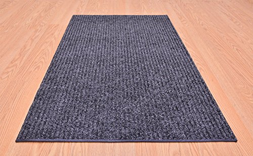 Tough Collection Roll Runner Grey Brown Blue 27 in or 36 in Wide x Your Custom Length Choice Slip Resistant Rubber Back Area Rugs and Runners (Grey, 27 in x 12 ft)