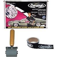 Dynamat 10455 18 x 32 x 0.067 Thick Self-Adhesive Sound Deadener Dynamat 10007 Dyna-Roller Professional Heavy Duty 2 Wide Rubber Roller 13100 Dynatape 1-1/2in x 30ft