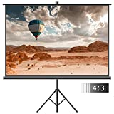 100 Inch Projector Screen - Projector Screen with Tripod Stand – FEZIBO 100 inch 4:3 HD Projection Screen with Stand Portable Foldable for Outdoor Indoor,160° Viewing Angle