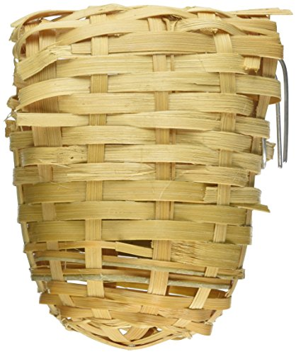 Prevue Pet Products BPV1154 Bamboo Covered Finch Bird Twig Nest