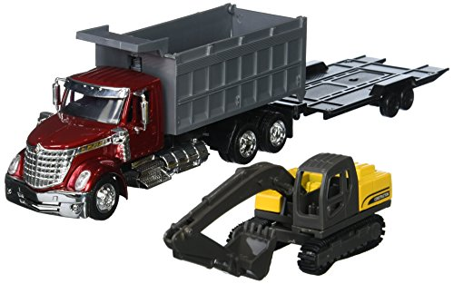 NewRay Long Haul Trucker International Lonestar Dump Truck Diecast Vehicle Toy Dump Display