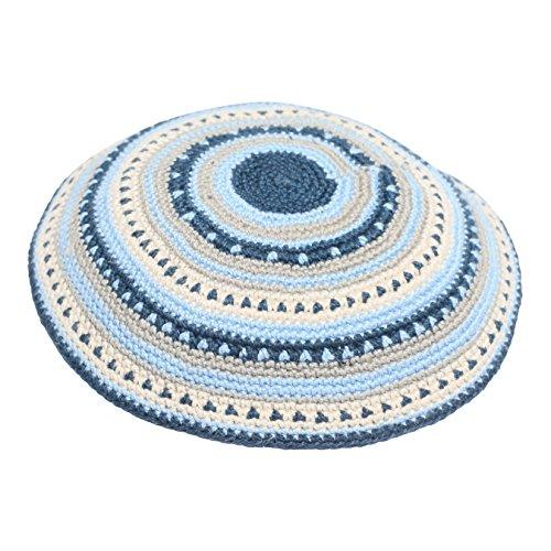 100-Cotton-Hand-Made-Yarmulke-Jewish-Kippah-Kippa-Israel-Judaica-Yarmulka-Yamaka-Yamakah-Kipa-14CM-Beige-Blue-Grey