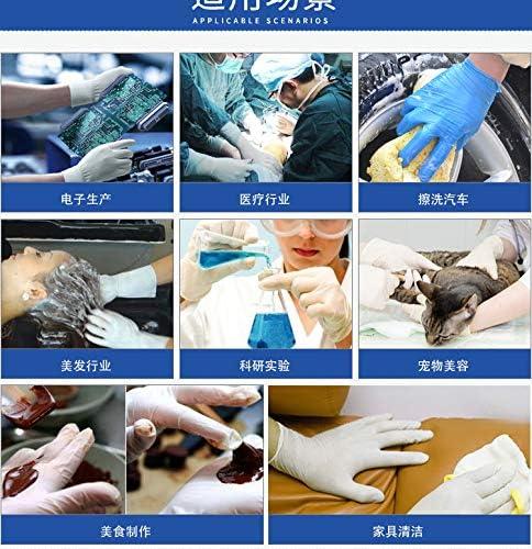 Gants en Nitrile Bleus pourpres jetables Dedicated Barber Shop 100 Gants en Nitrile Non poudr/és pour Protection Contre Les exp/ériences de st/érilisation