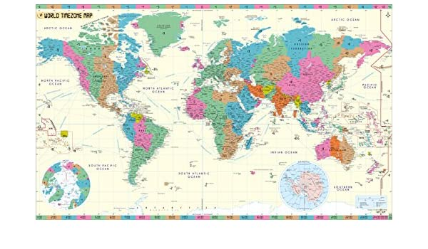 World Time Zone Map (48\