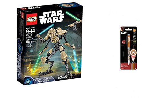 LEGO Star Wars General Grievous 186PCS & Star Wars Projector Pen, Colors may vary Playsets Building (Halo Lego Falcon)