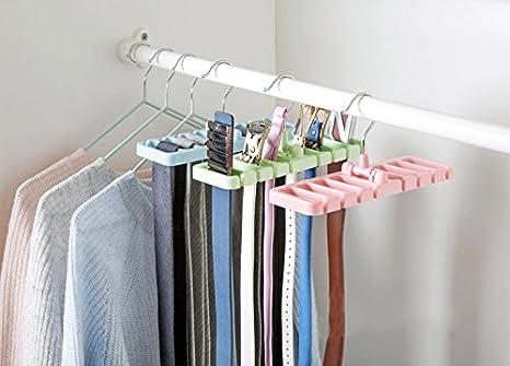 Home Organization Home & Garden Wardrobe Tie Belt Scarf Hanging Storage Rail Rack Bar Holder Hanger Organizer