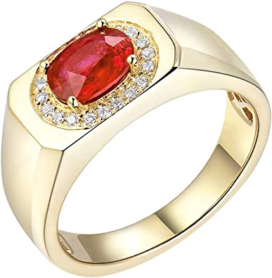 bague homme diamant rouge