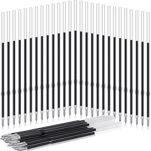 60 조각 0.7MM 철회 가능한 펜필필체 젤 볼펜 리필을 보충 블루 잉크 펜필에 대한 철회 가능한 펜 사무실 학교에 공급 107MM 길이