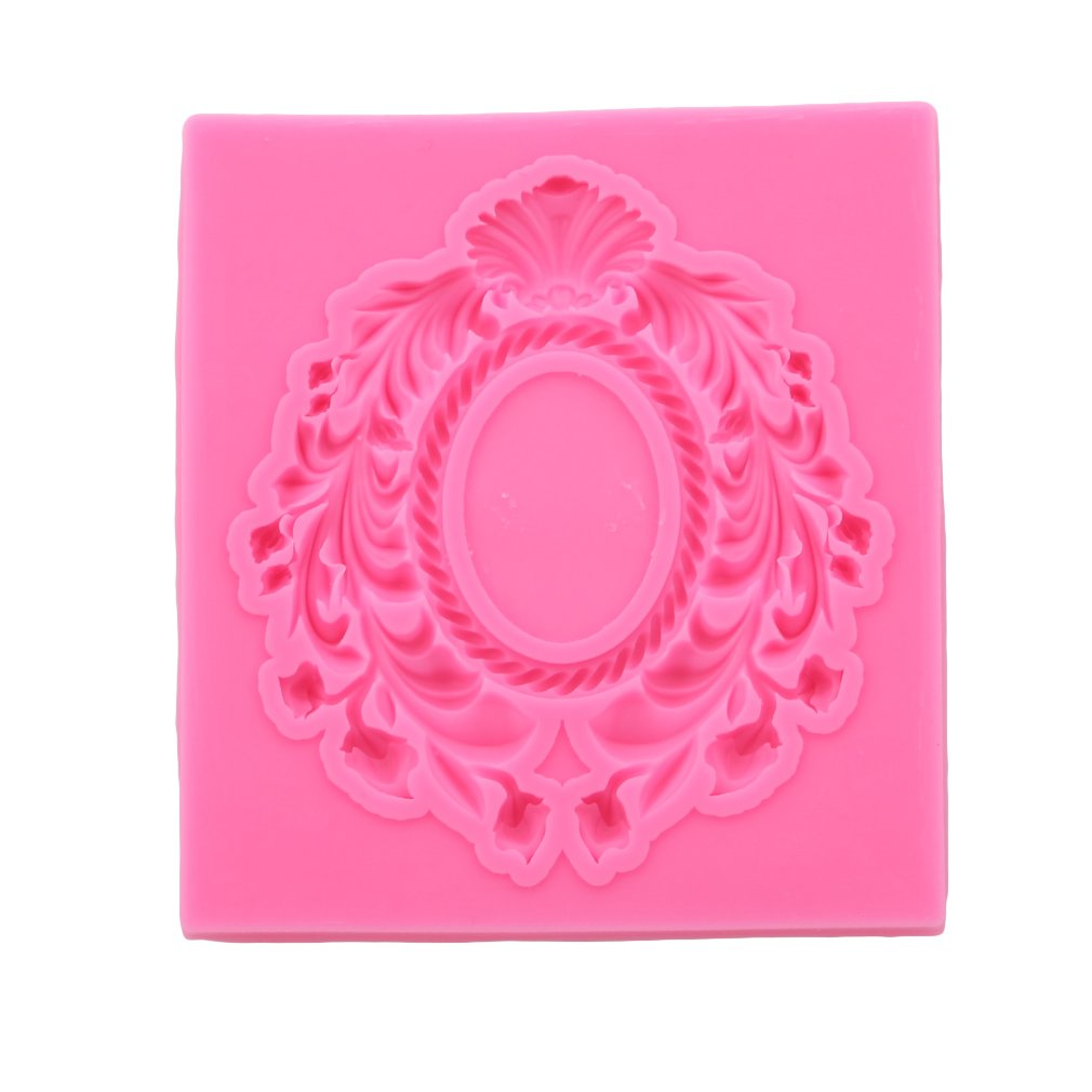 Dolland Lace Frame Wreath Silicone Mold Sugar Craft Fondant Cake Tools Cake Decoration Mold Kitchen Baking Decoration Tool