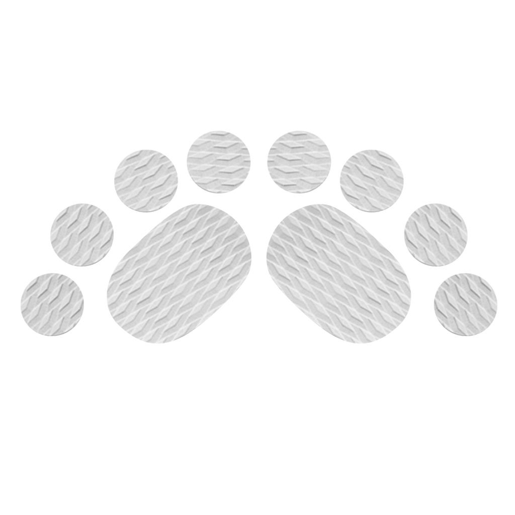 MonkeyJack 10 Pieces Diamond Grooved Grey EVA Deck SUP Traction Pad Grip for Dog Stand Up Paddleboard Surfboard - Self Adhesive & Non-slip by MonkeyJack (Image #3)