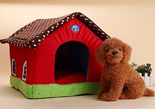 Rainsflower Pet Indoor Warm house for God Cat Single Room Dog Bed Cotton Soft Pet Sofa