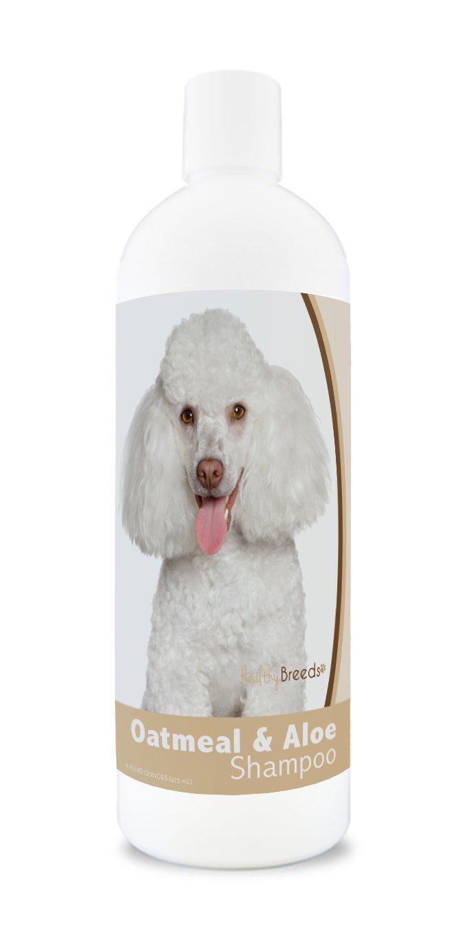 Healthy Breeds Aloe & Oatmeal Dog Shampoo Flea and Tick for Toy Poodle - OVER 200 BREEDS - 16 oz - Mild & Gentle for Sensitive Skin - Hypoallergenic Formula & pH Balanced