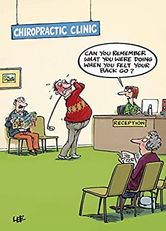 Golfer At Back Chiropractors Humour Greetings Card 10570 Happy