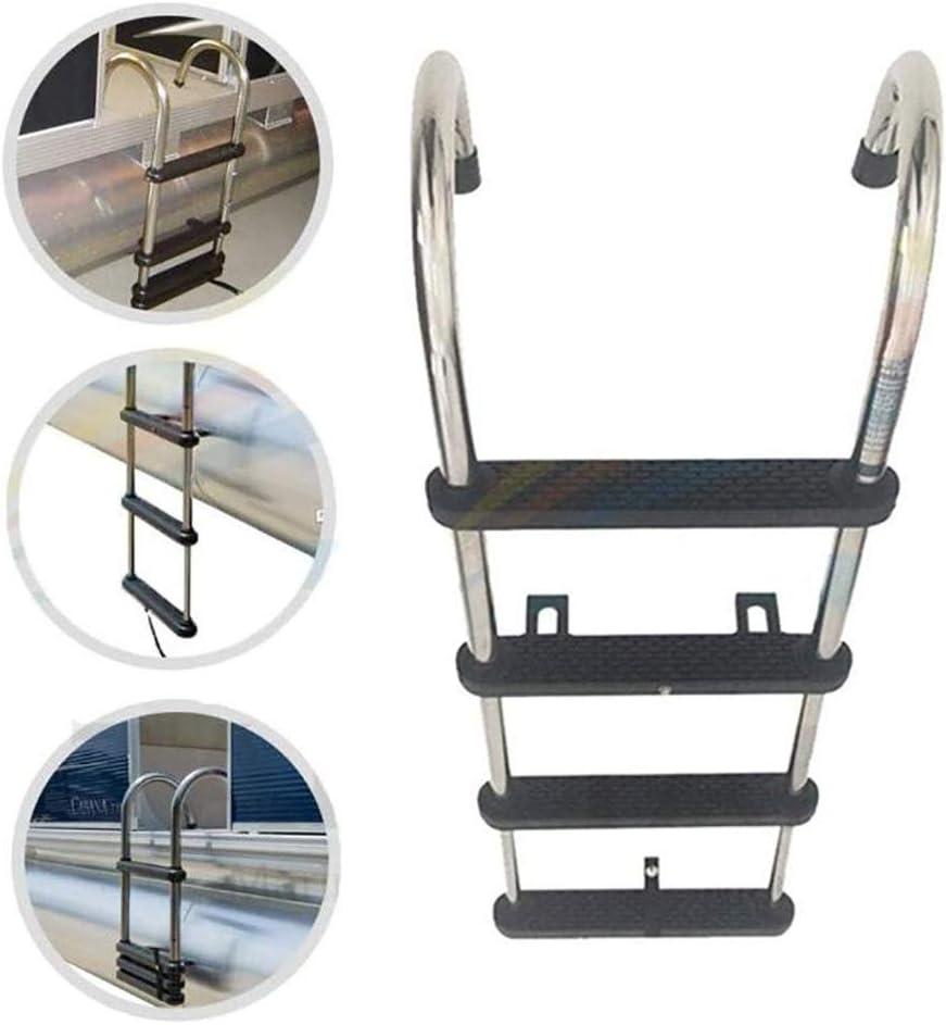 ZLI Escalera de Barco Escalera Telescópica de 4 Peldaños para Piscina de Yates, Acero Inoxidable Debajo de la Escalera de Embarque del Pontón de la Plataforma, Fácil de Instalar (Size : 4