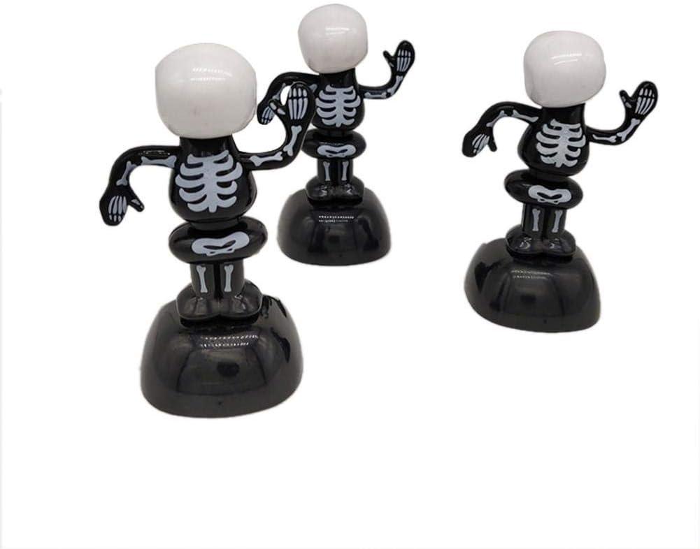 circulor Mu/ñeco Solar Halloween Solar Juega El Baile Esqueleto Cr/áneos Figuras De Fantasmas Que Hacen Pivotar De Coches De Juguete del Tablero De Instrumentos Decoraci/ón