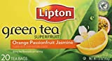 Lipton Green Tea Bags, Orange Passionfruit Jasmine, 20 ct