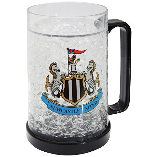 Newcastle United FC Official Football Crest Freezer Mug (One Size) (Clear/Black)