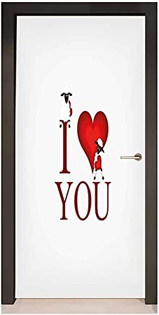 Homesonne I Love You Décor Porte Mural Ours et Renard en ...