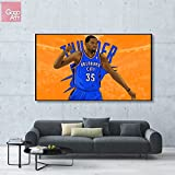 GoGoArt ROLL Canvas print wall art panorama photo big picture poster modern (no framed no stretched not oil painting) nba kevin durant Thunder mvp sport basketball star okc A-0059-1.75 (32 x 56 inch)