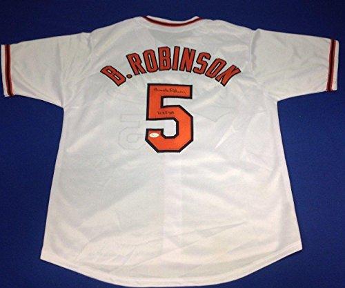 Autographed Brooks Robinson Jersey - HOF 83 Insc W845763 - JSA Certified - Autographed MLB Jerseys