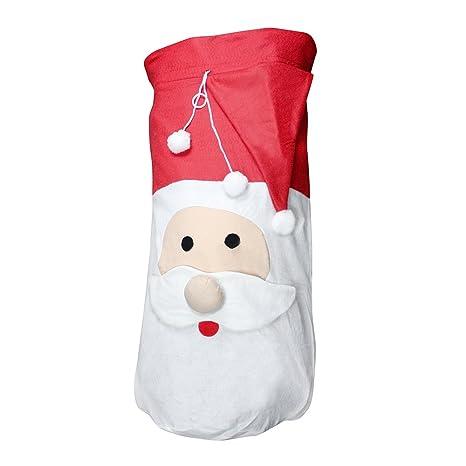 Weihnachtsdekoration HUGE 100cm Draw String Christmas Large Stocking Sack Presents Gifts Decoration