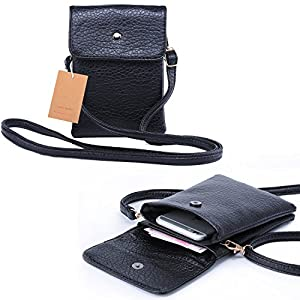 Women Cute Mini Crossbody Bag / Cellphone Purse / Shoulder Bag / Cellphone Pouch, WITERY Soft Leather 4 Bags Small Wallet Purse with Adjustable Shoulder Strap