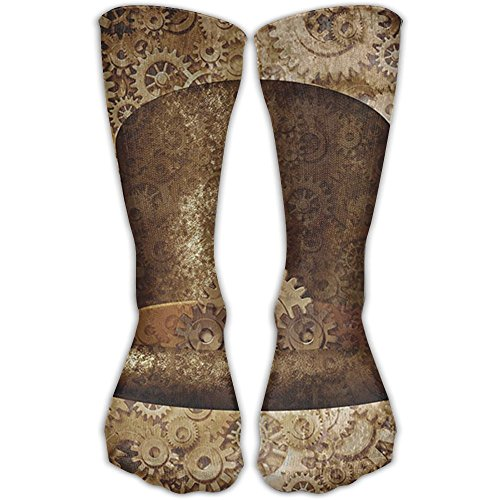 Cananhjs Steampunk Top Hat As A Science Fiction Concept Made Of Metal Copper Gears And Cogs Image Athletic Tube Stockings Women's Men's Classics Socks Sport Long Sock One (Flash Costume Concept)