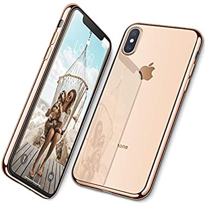 DTTO Case iPhone Xs Max, [Lightening Series] Clear Stylish Flexible Case Metal Luster Edge Apple iPhone Xs Max 6.5 Inch (2018 Released)
