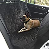 Topist Dog Car Seat Cover,Super Durable Soft Heavy Gauge Double Layer Waterproof Fabric Back Seat Covers Travel Hammock with Pet Dog Car Seat Belt Universal Design for All Cars,Trucks,SUVs