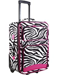 Ever Moda Zebra Carry On Luggage