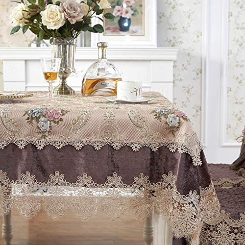 Mountain head ヨーロッパのコーヒーテーブルテーブルクロス生地長方形のリビングルームホームダイニングテーブルクロス正方形のテーブル正方形のテーブルクロスラウンドテーブル Mountain head (Color : Purple, Size : 140*220cm) 140*220cm Purple B07QNGG5H3