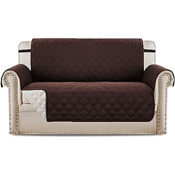 Amazon Com Deluxe Reversible Loveseat Slipcover Furniture