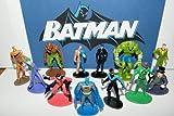 batman figure set - Batman Superhero and Villains Mini Toy Figure Set of 12 with Catwoman, Joker, Robin, Nightwing Etc