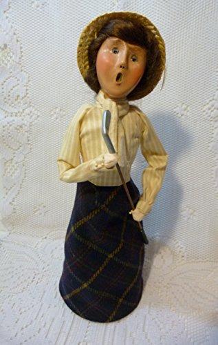 Byers Choice Ltd 2002 Victorian 13 Inches Lady Golfer Figurine
