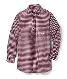 Rasco Fire Retardant RED PLAID Dress Shirt 7.5 oz, XL Long