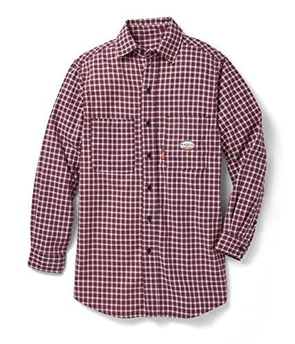 Rasco Fire Retardant RED PLAID Dress Shirt 7.5 oz, XL Reg